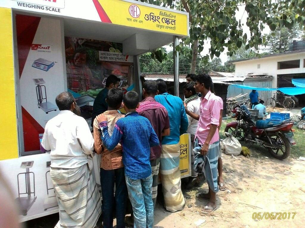 RFL weighing scale Bazar activation